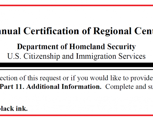 New Form I-924A Effective Today