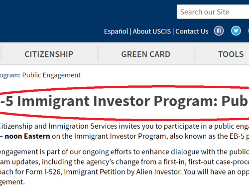 Carolyn Lee's Blog on IIUSA re: USCIS March 13, 2020 EB-5 Stakeholder Engagement